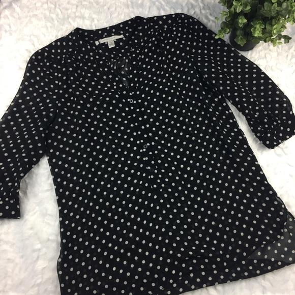 2395e682 LC Lauren Conrad Tops - Lauren Conrad black and white polka dot blouse